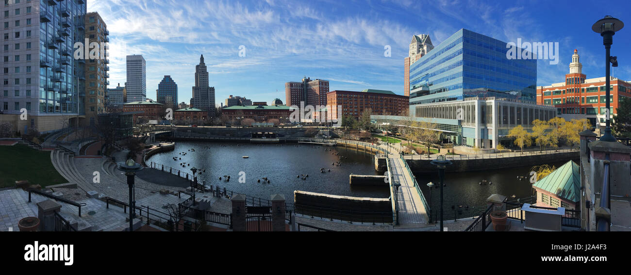 A Panorama of downtown Providence, Rhode Island Stock Photo