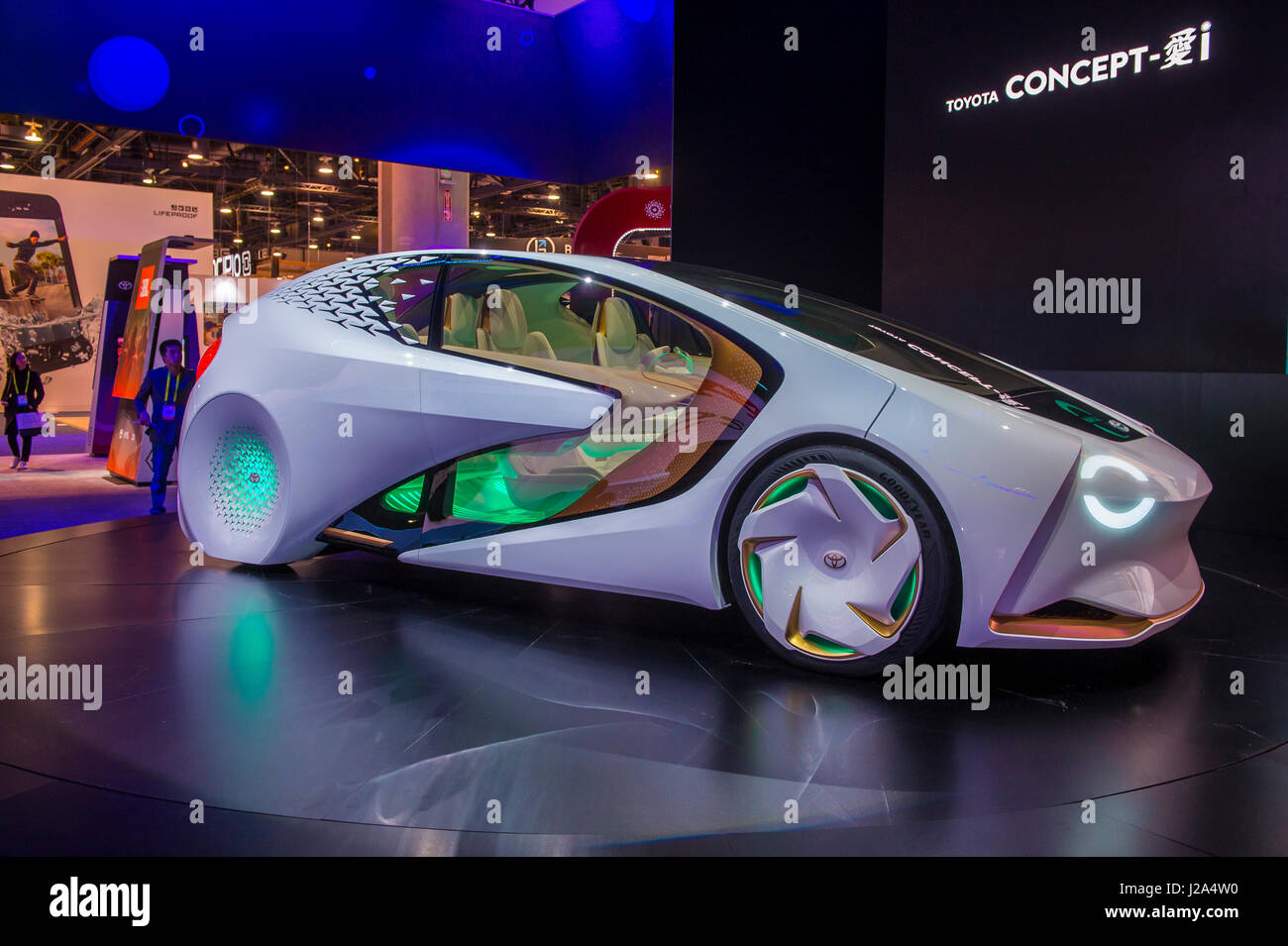Toyota Concept car at the CES Show in Las Vegas - Stock Image