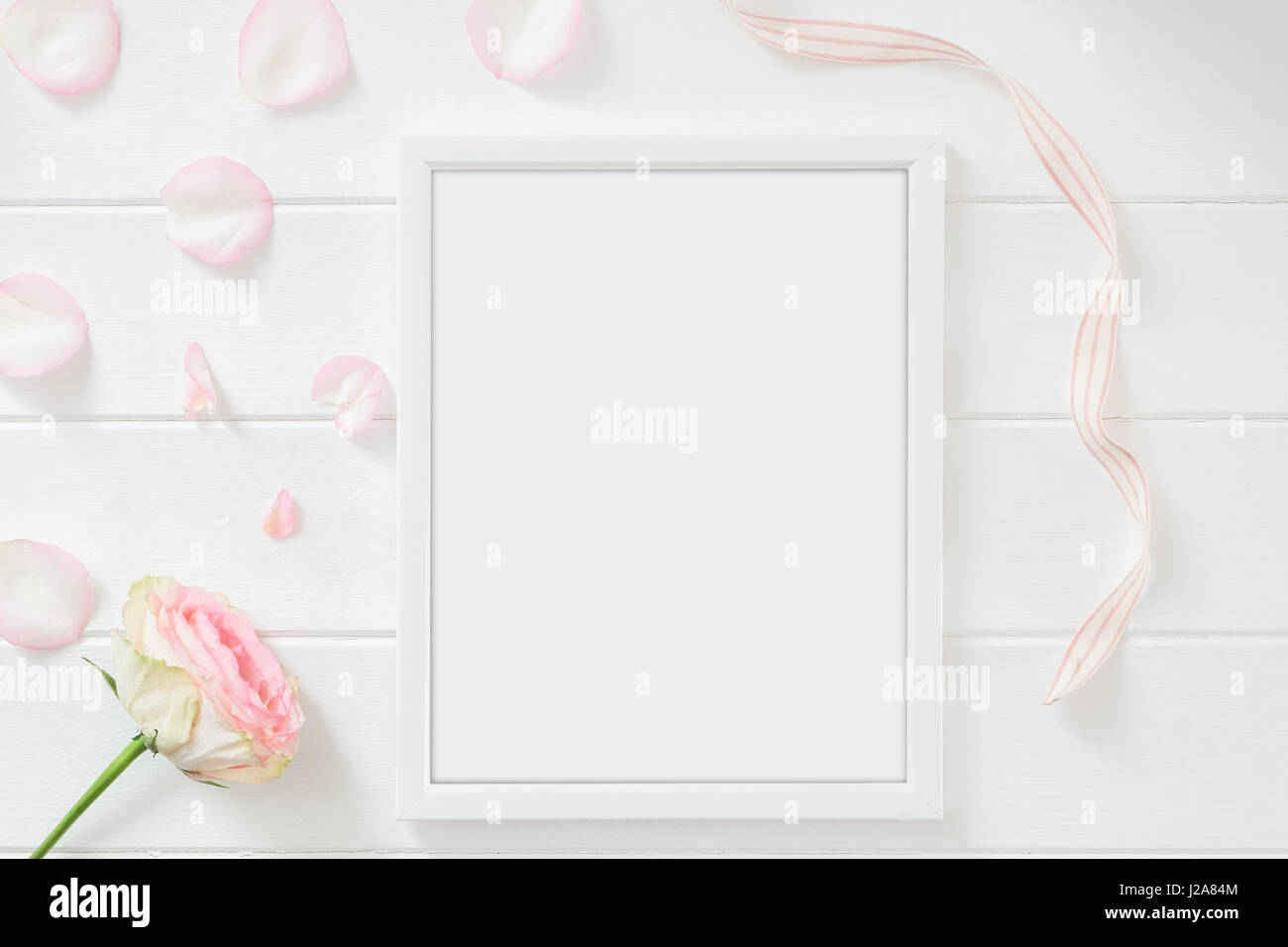 Portrait 10x8inch Frame floral themed mockup. Space for your own ...