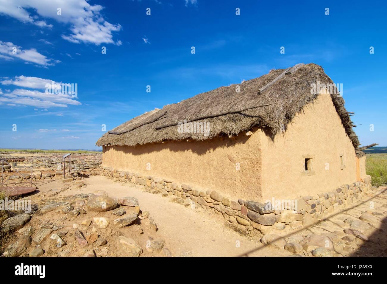 Archaeological remains of the ruins of Numancia, Soria, Castilla Leon, Spain - Stock Image