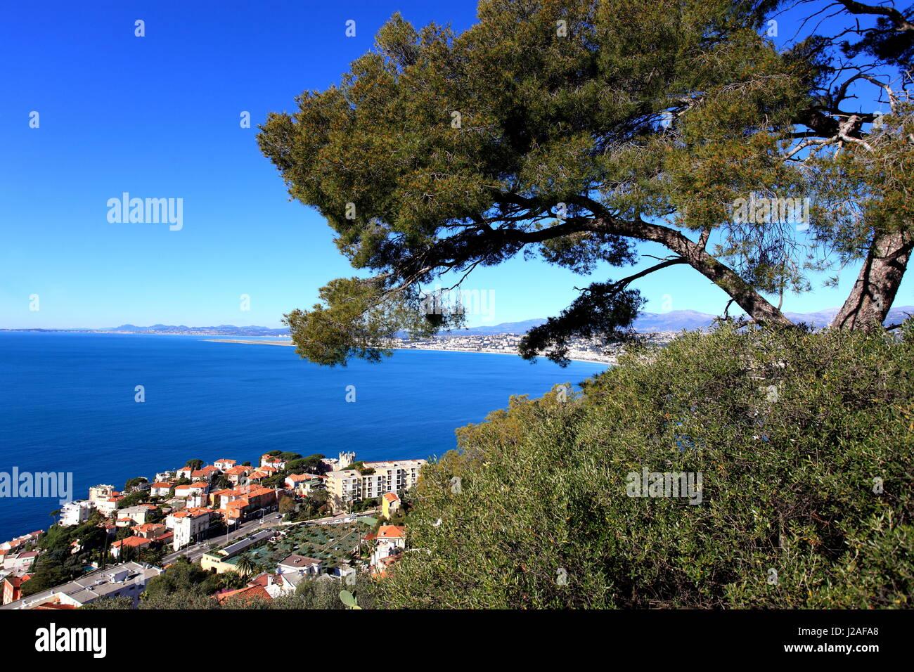 Nice, Cap de Nice, vue generale, Alpes-Maritimes, 06, Cote d'Azur, PACA, France Stock Photo