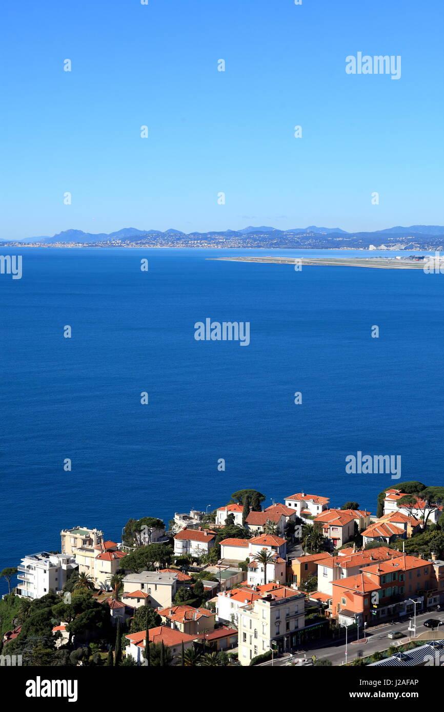 Nice, Cap de Nice, vue generale, Alpes-Maritimes, 06, Cote d'Azur, PACA, France - Stock Image