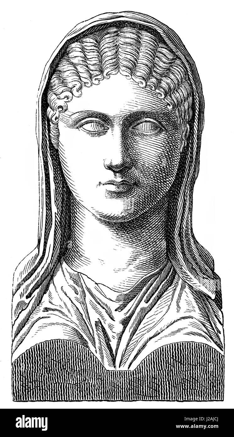 Aspasia, c. 470 BC-c. 400 BC, Greek philosopher and orator - Stock Image