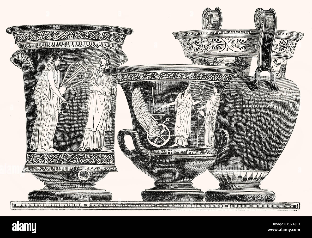 Milk vessels from ancient Greece - Stock Image