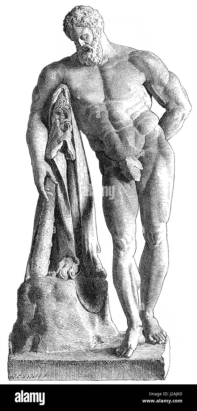 Heracles, by Lysippos - Stock Image