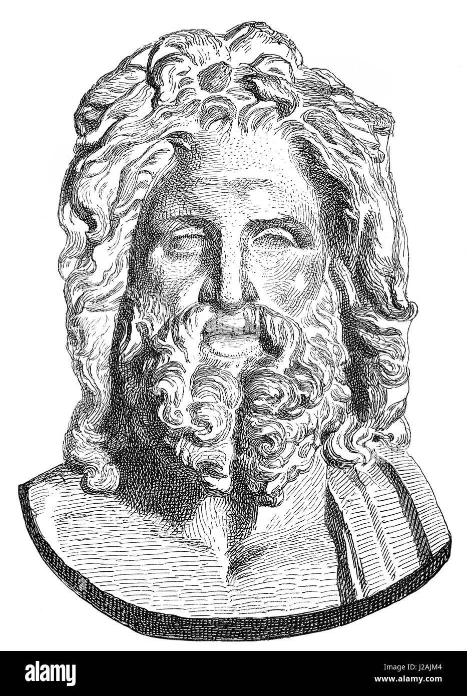 Statue of Zeus of king of the gods - Stock Image