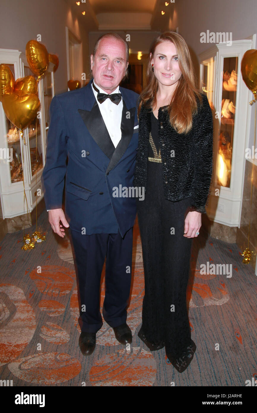 Celebrities attending 20th Blauer Ball Gala at Hotel Atlantic Featuring: Enno von Ruffin, Estelle Rytterborg Where: - Stock Image