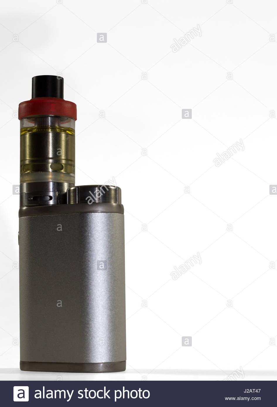 Personal vaping device isolated on white background - Stock Image