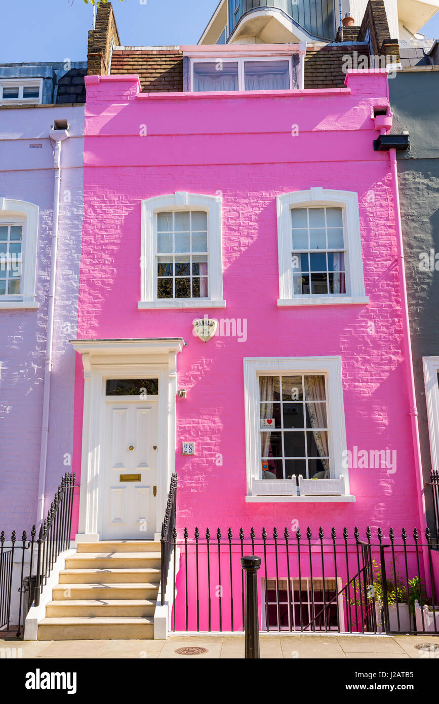 Pink House Chelsea London England Stock Photos & Pink House Chelsea ...