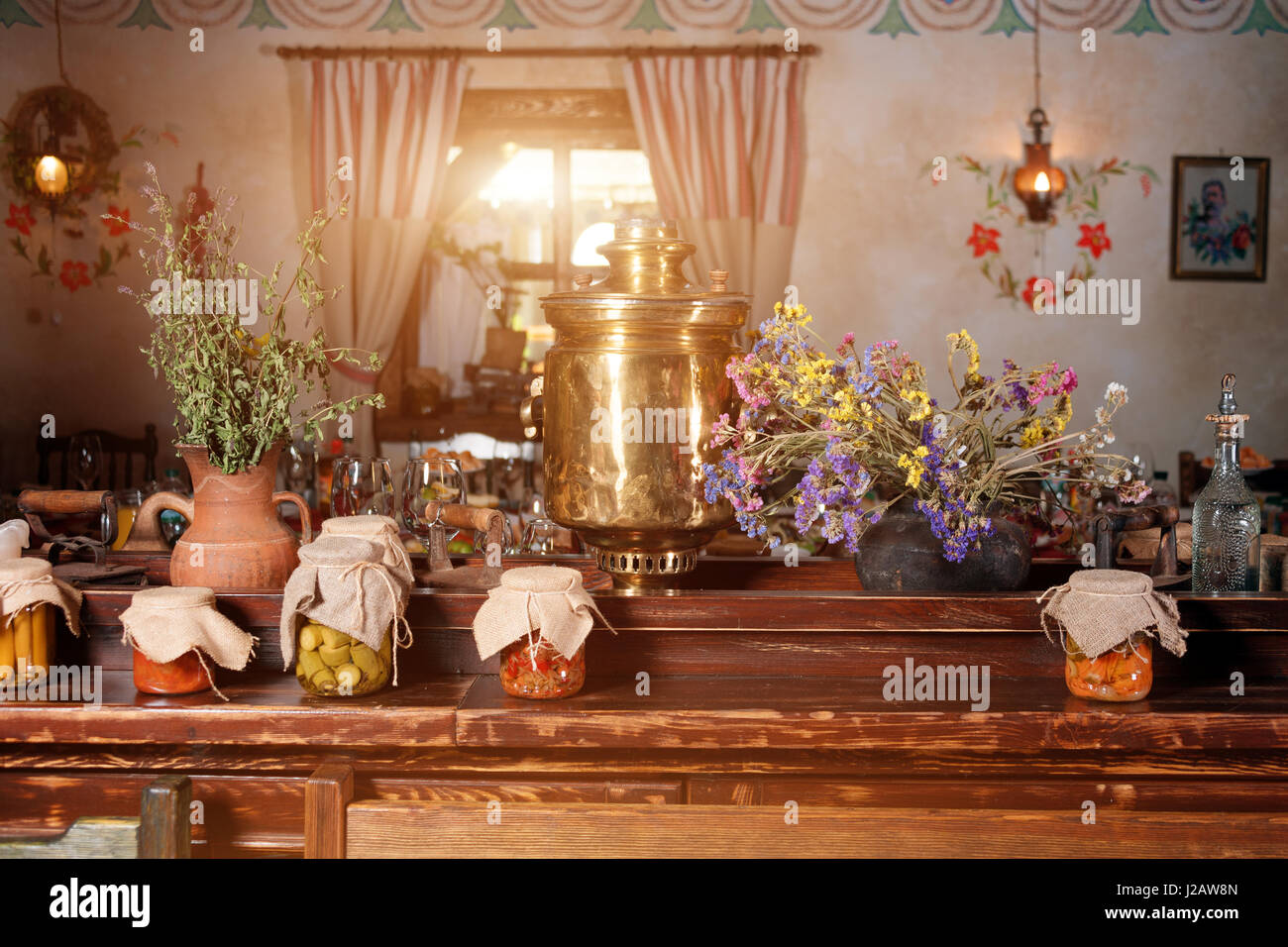 Unique Ethnic Restaurant Interior Traditional Design Ukrainian Stock Photo Alamy
