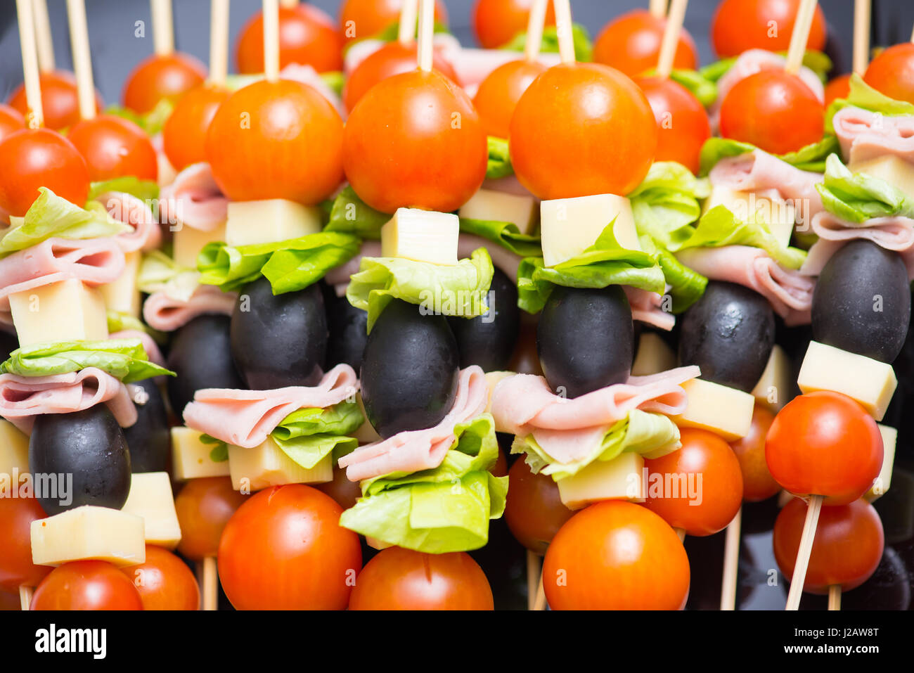 Appetizers Mix at wedding time Stock Photo: 139151624 - Alamy