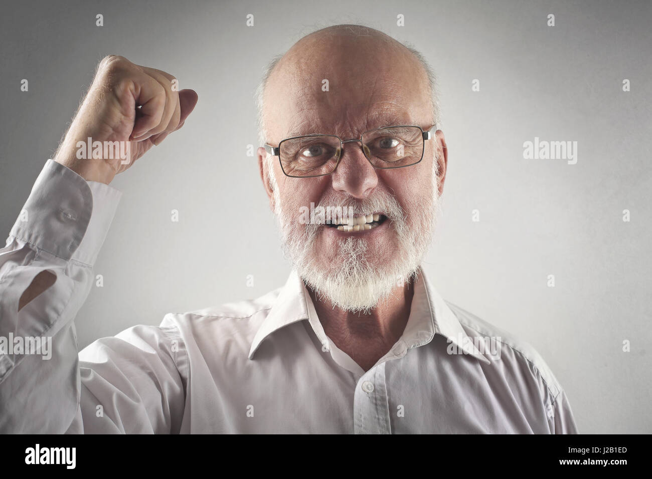 Old Business Man Angry At Phone High Resolution Stock Photography