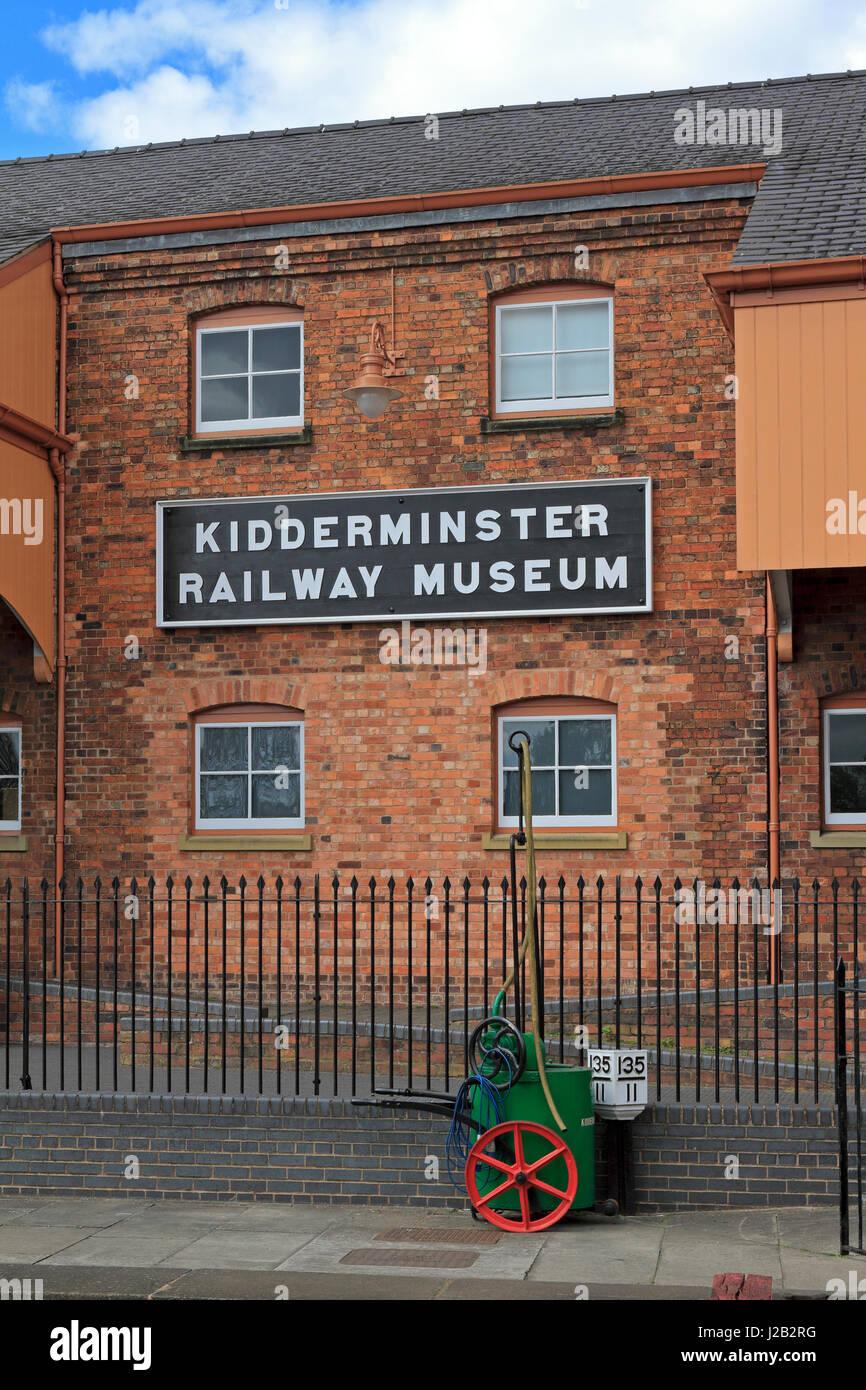 Kidderminster Railway Museum, Kidderminster, Shropshire, England, UK. - Stock Image