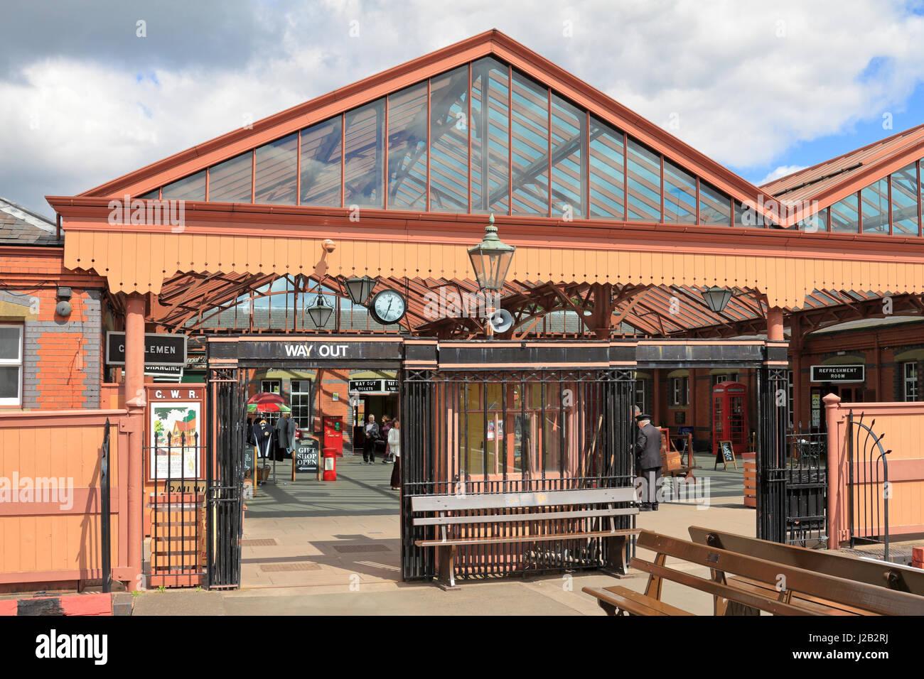 Kidderminster Railway Station from the platforms, Kidderminster, Shropshire, England, UK. - Stock Image