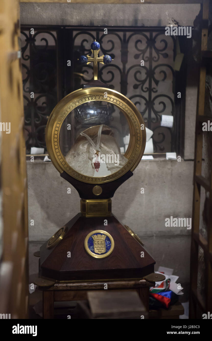 Relics of Saint Martin of Tours in the Basilica of Saint Martin (Basilique Saint-Martin de Tours) in Tours, Indre - Stock Image