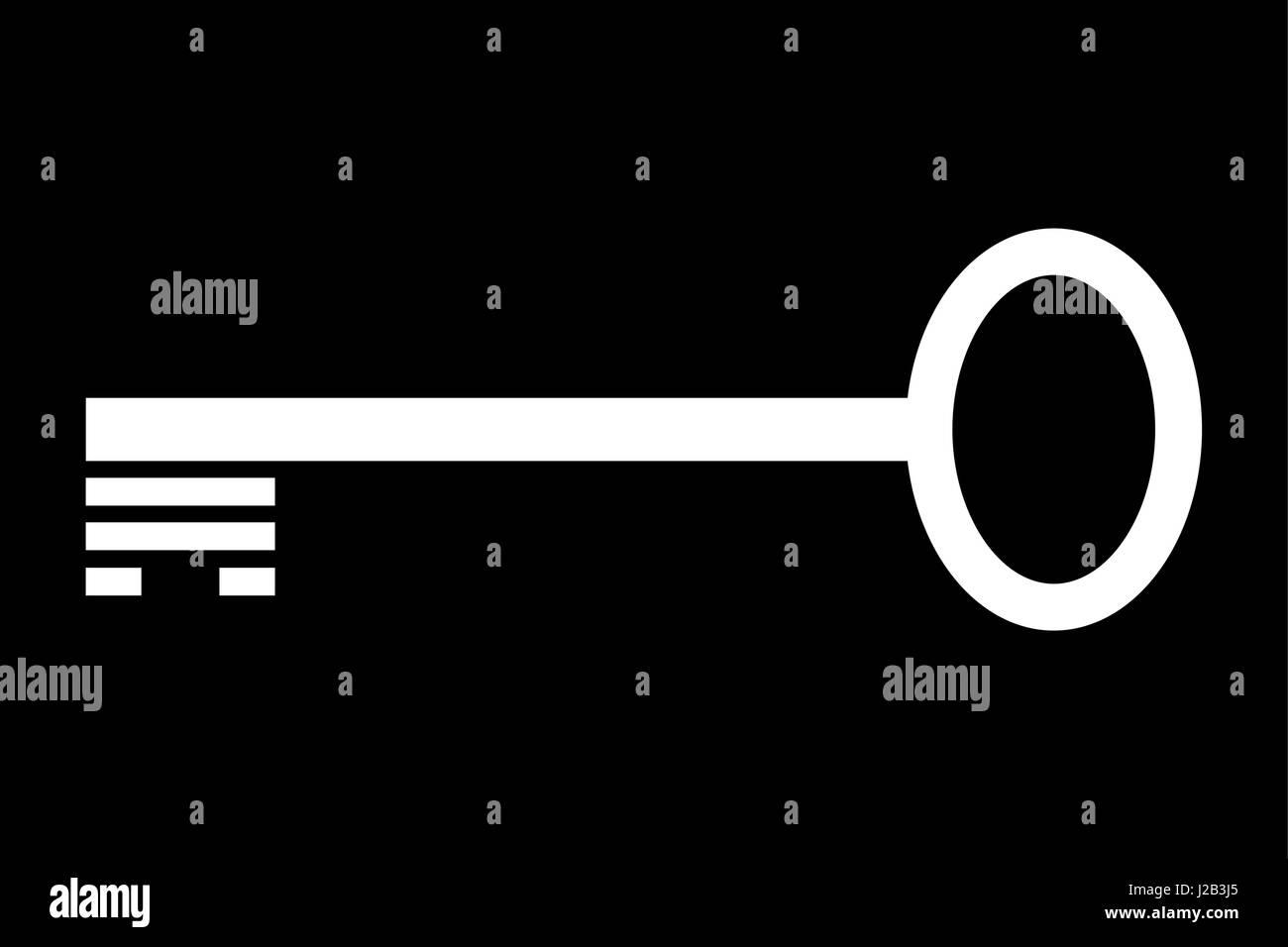 Key vector icon - Stock Image
