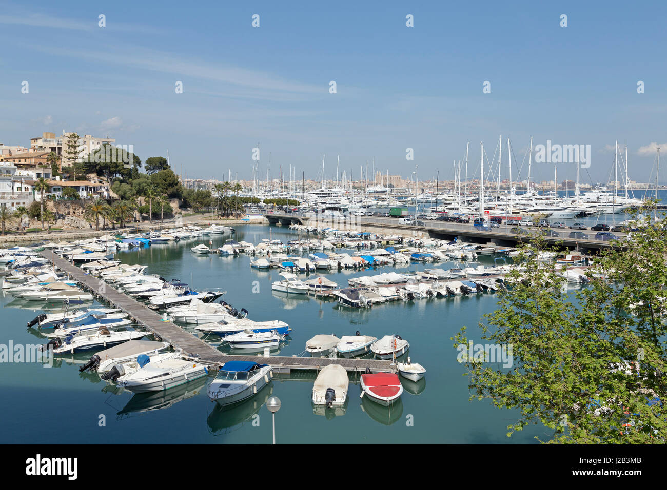 marina in Palma de Mallorca, Spain - Stock Image