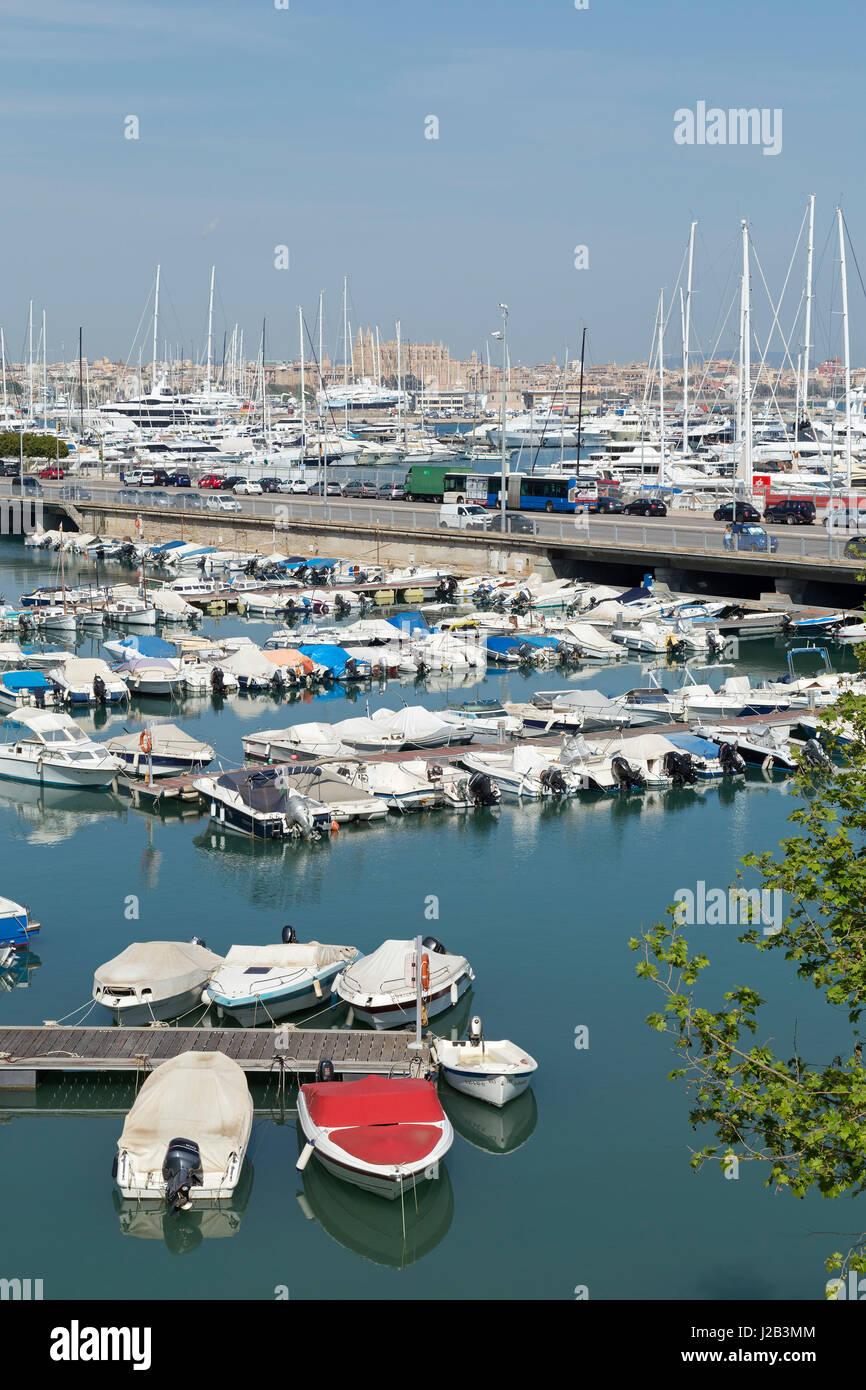 marina in Palma de Mallorca, Spain - Stock Image