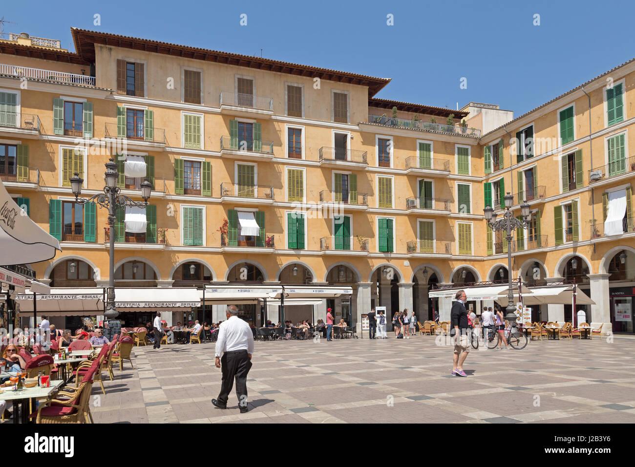 Placa Major in Palma de Mallorca, Spain - Stock Image