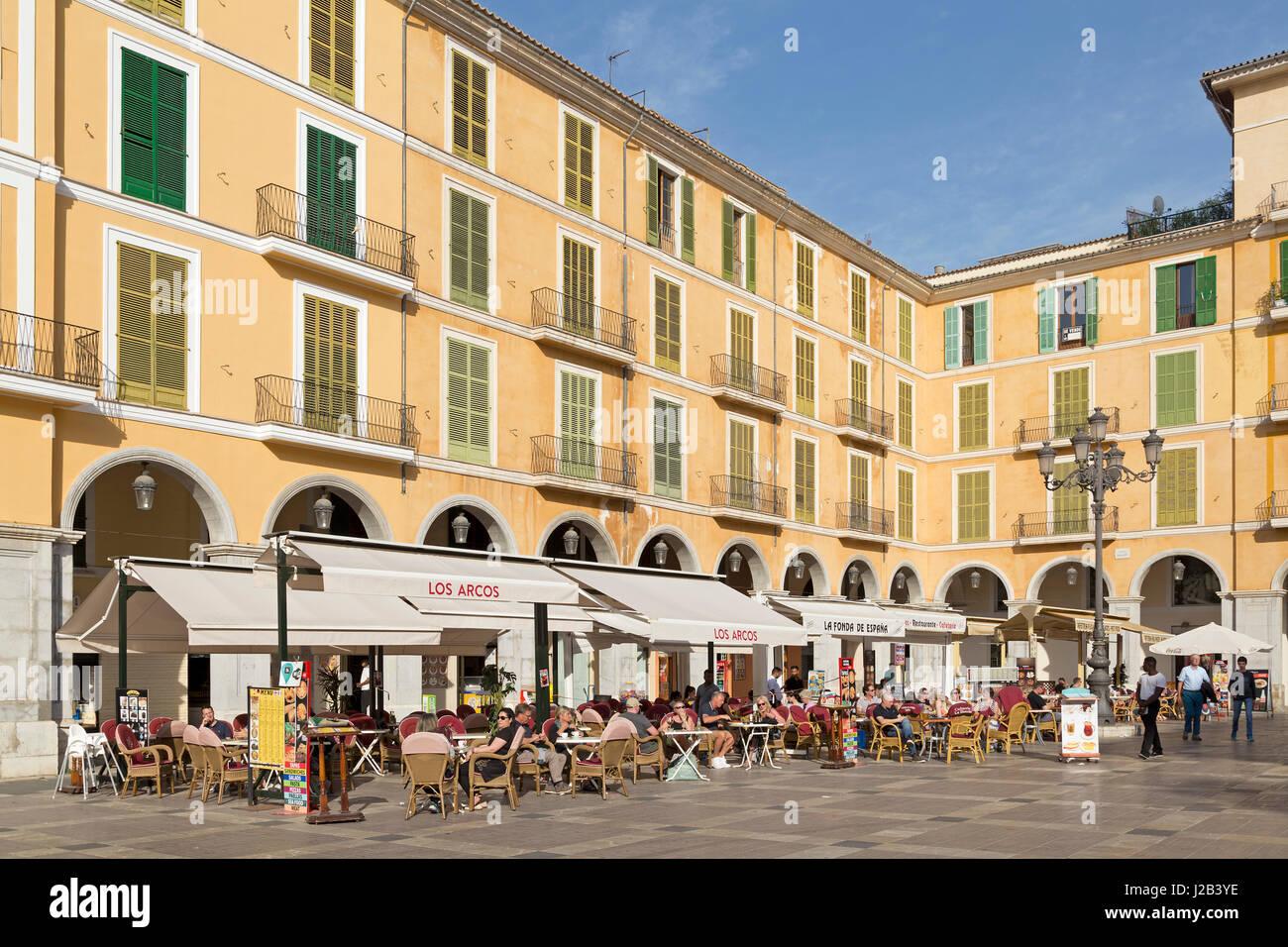 Placa Major in Palma de Mallorca, Spain Stock Photo