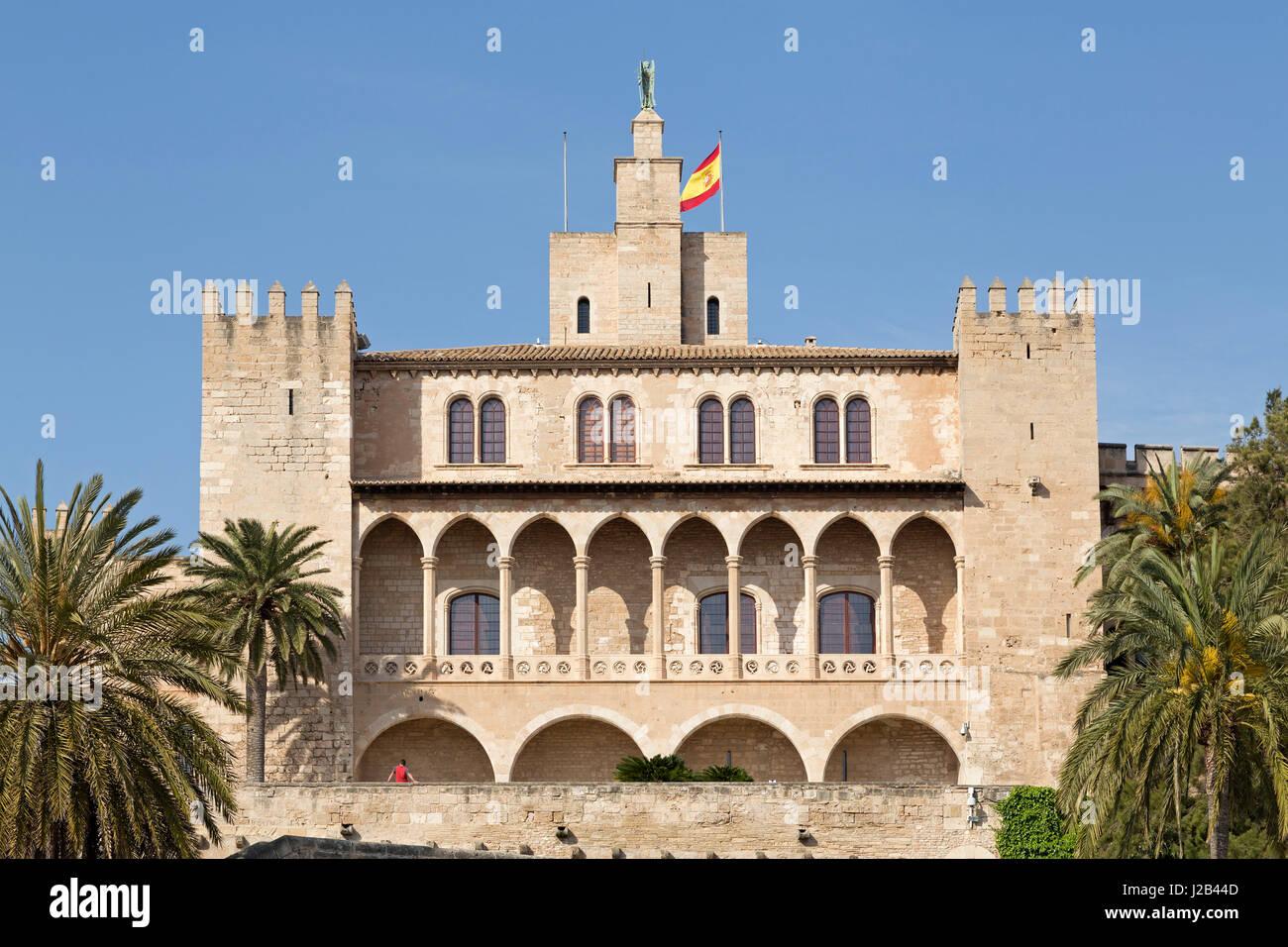 Palau de l´Almudaina in Palma de Mallorca, Spain - Stock Image