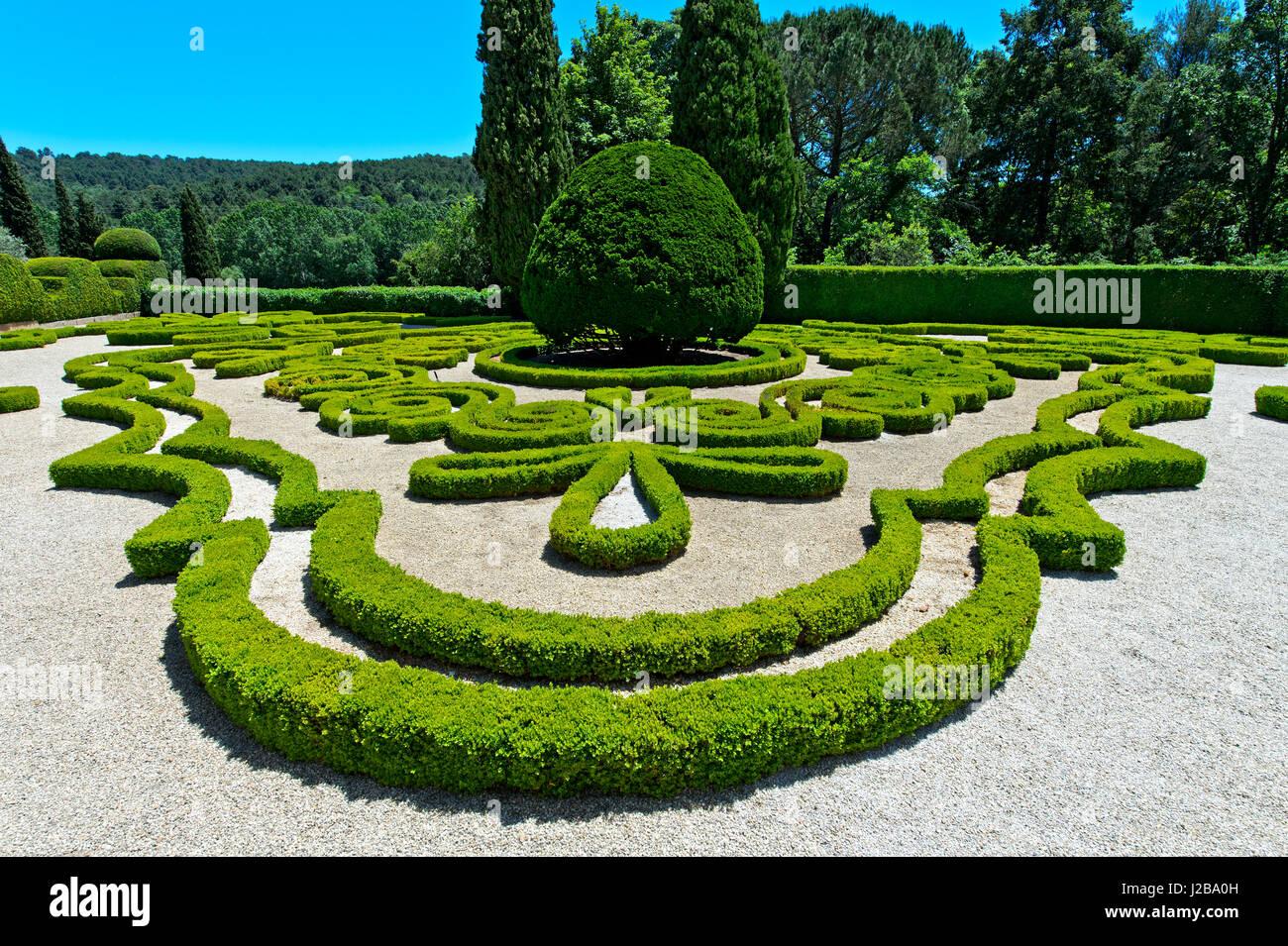Baroque Garden, Mateus Palace, Palacio de Mateus, Mateus, Vila Real, Portugal - Stock Image