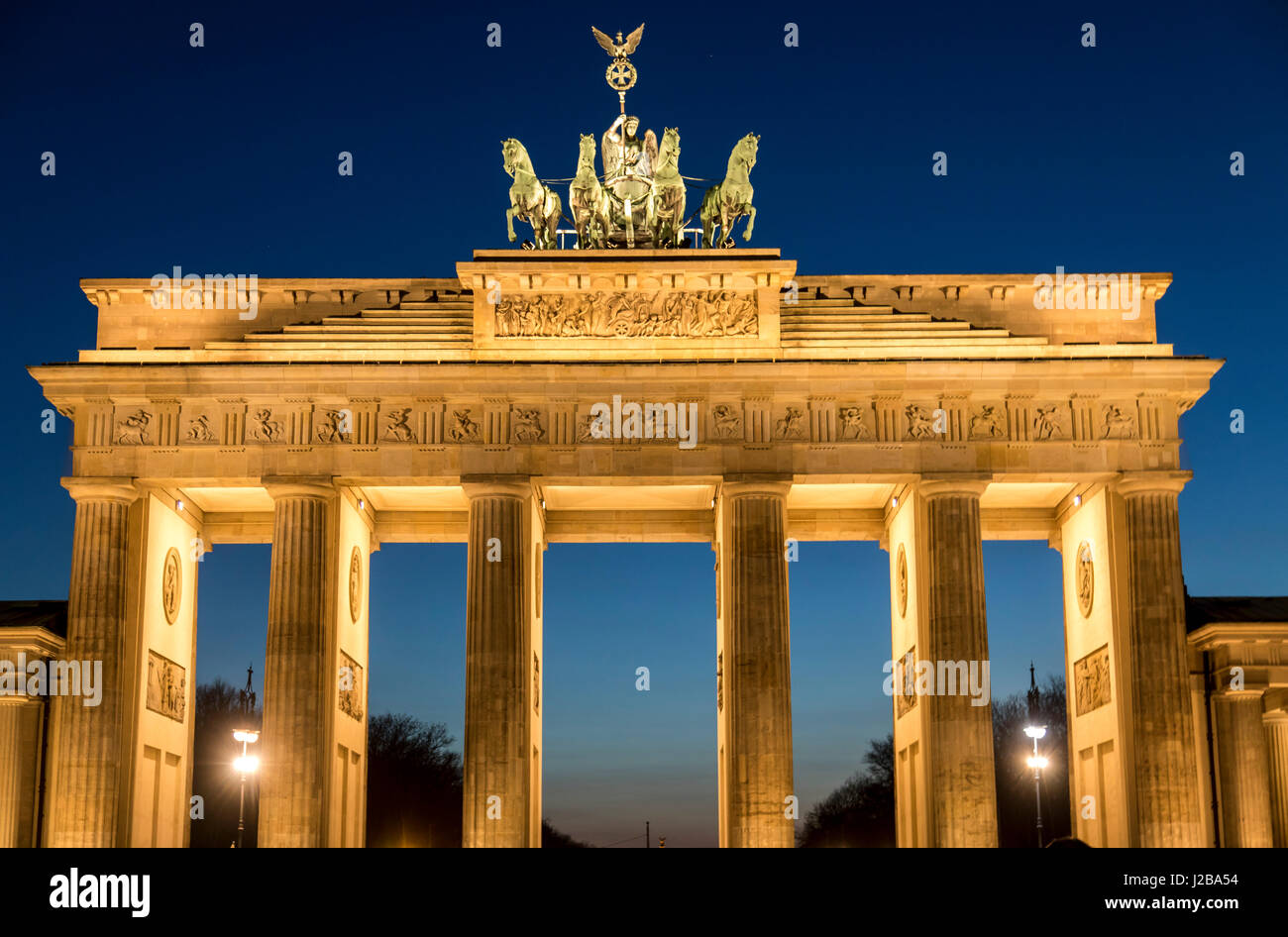 The Brandenburg Gate, in Berlin, Germany, - Stock Image
