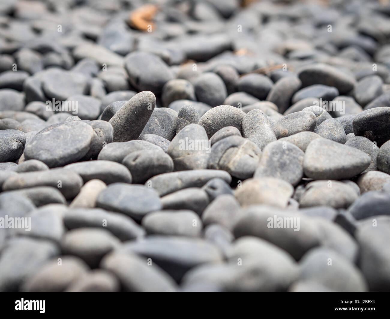 Gravel Pebbles - Stock Image