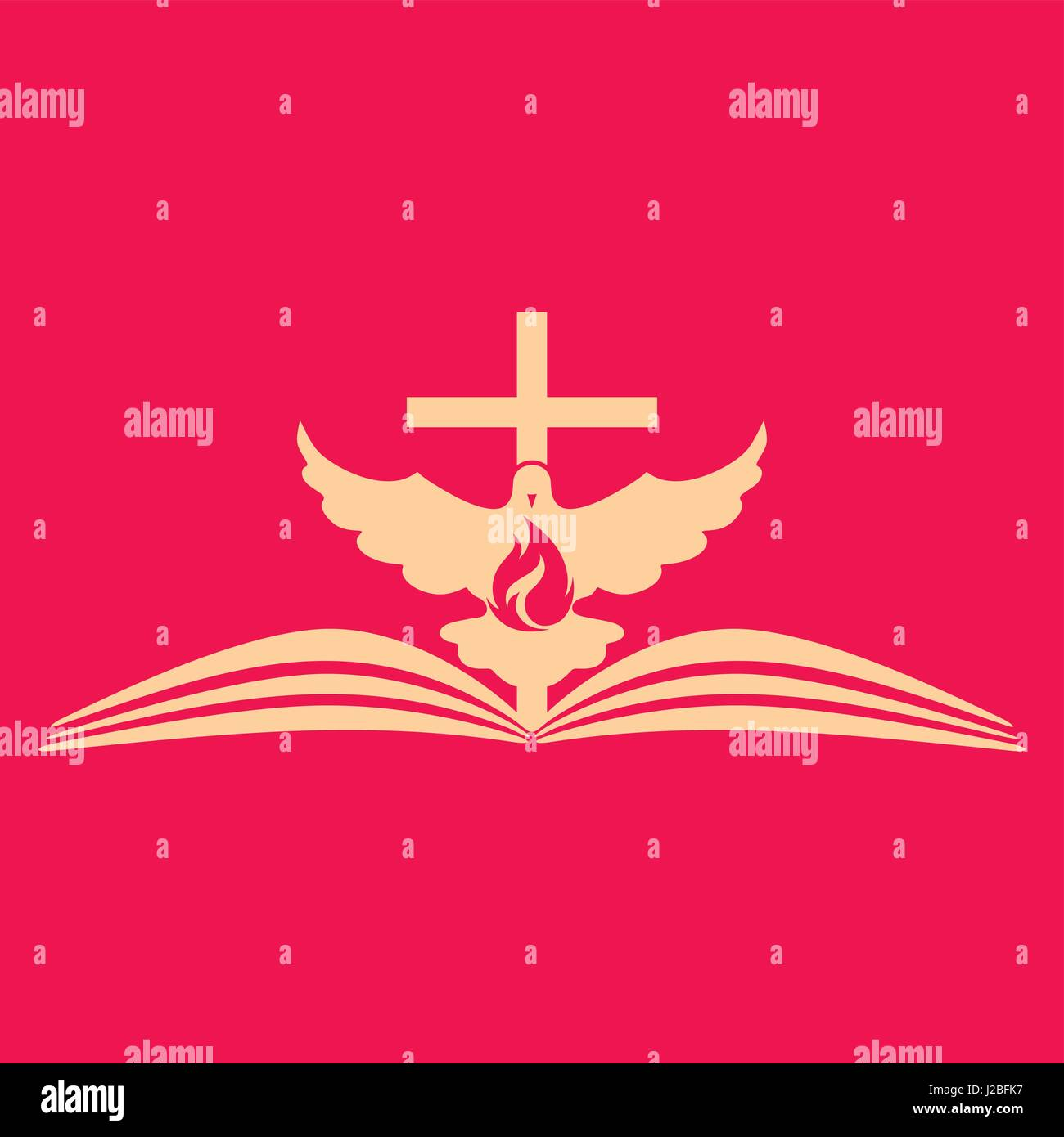 Church Logo The Open Bible The Cross And The Dove Are A Symbol Of