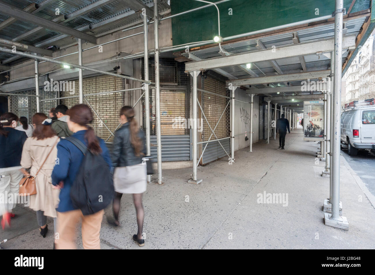 Vacant storefronts are seen in New York on Thursday, april 20, 2017. Because of consumers' shift to online shopping - Stock Image