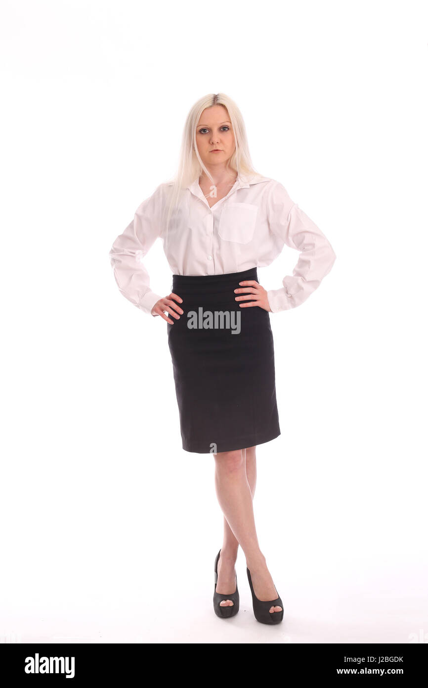 66628f3a4e0d64 12th May 2015 - Beautiful blone young woman in business atire, white shirt  and pencil skirt.