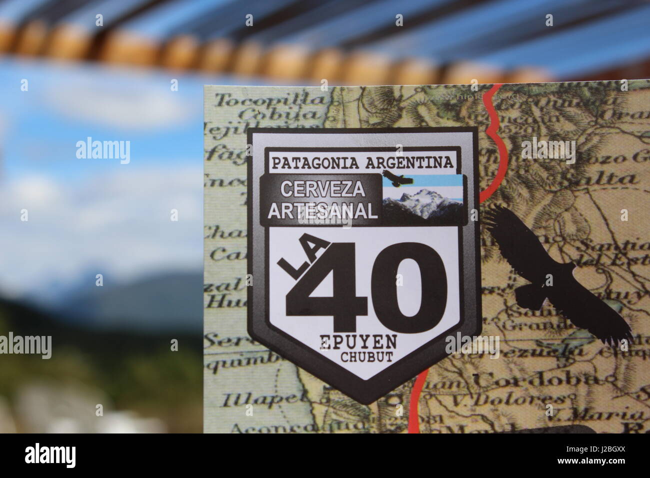 Route 40 sign in Argentina - Stock Image
