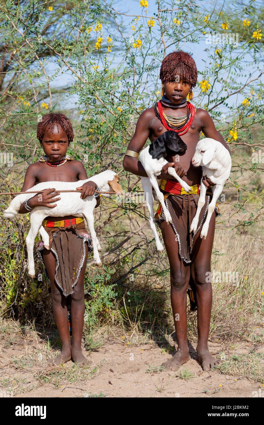 Young man Mursi Tribe Lower Omo Valley Ethiopia Stock