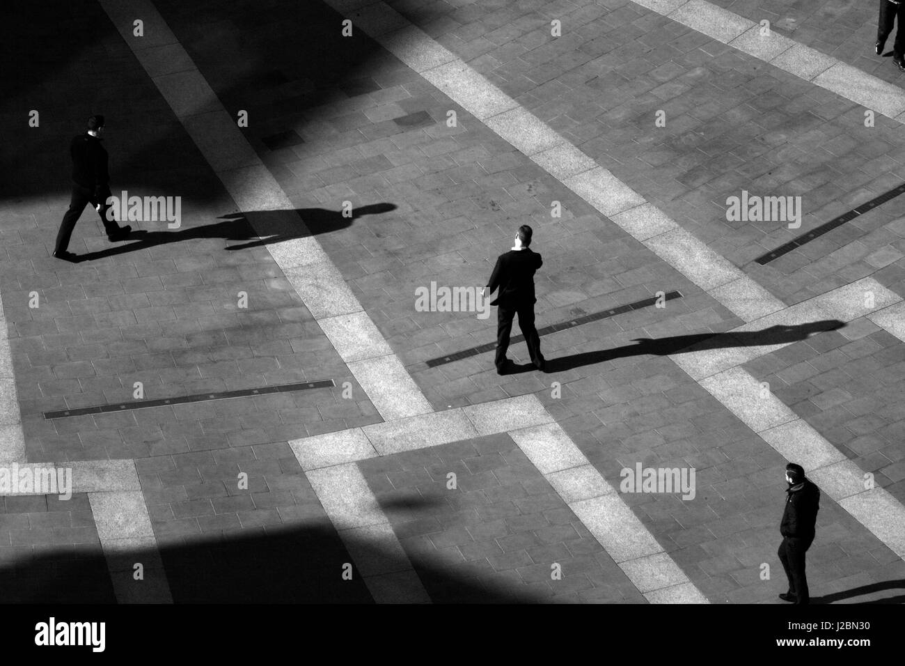 Aerial view of Paternoster Square, City of London, UK - Stock Image