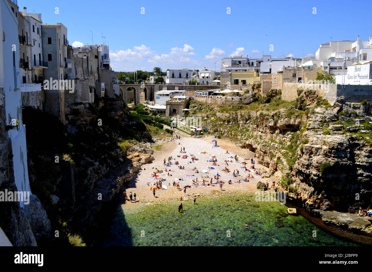 This photo was taken at Polignano a Mare,a place located in south of Italy. - Stock Image