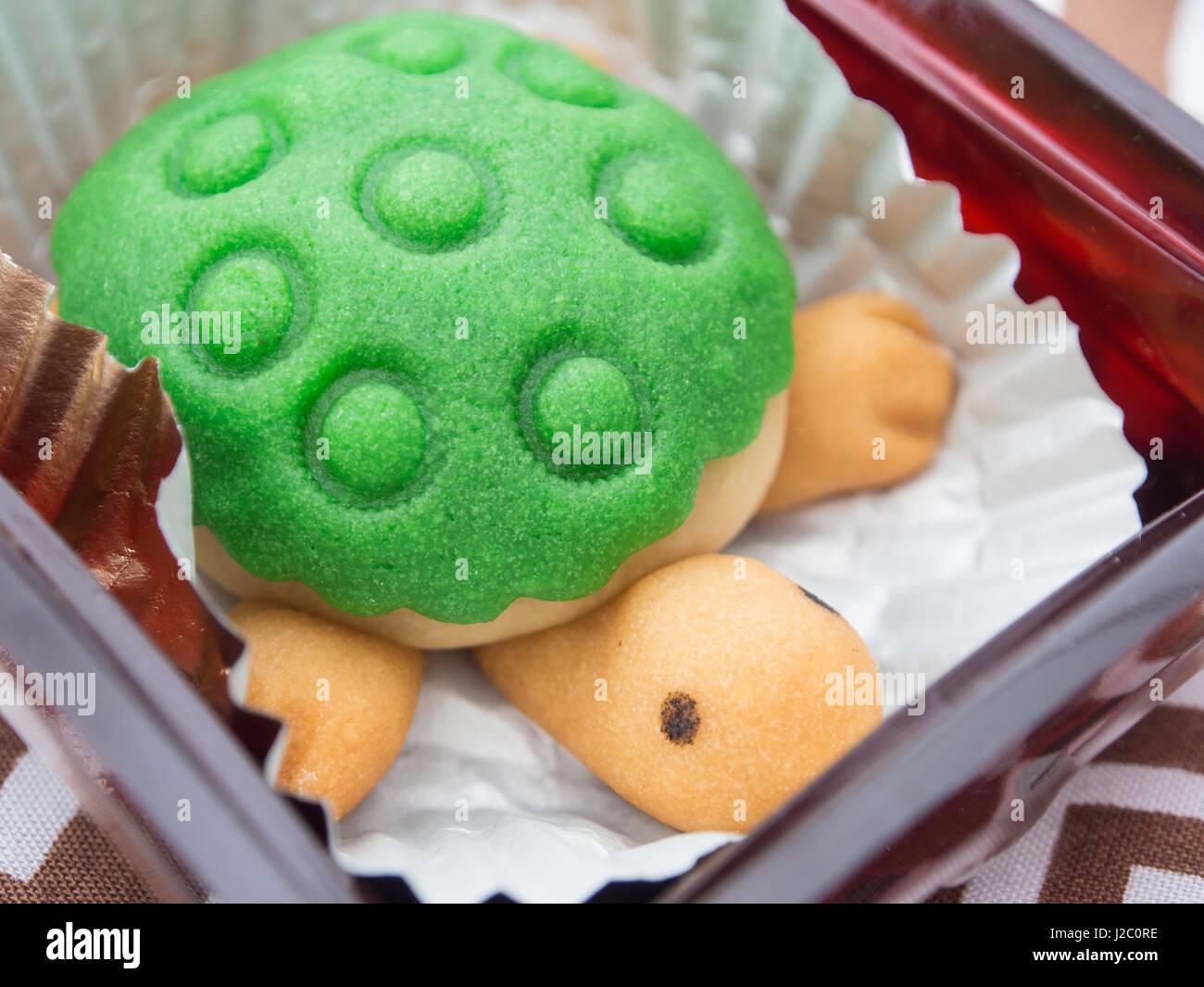 Cute Turtle Shaped Cake Stock Photo 139176338 Alamy