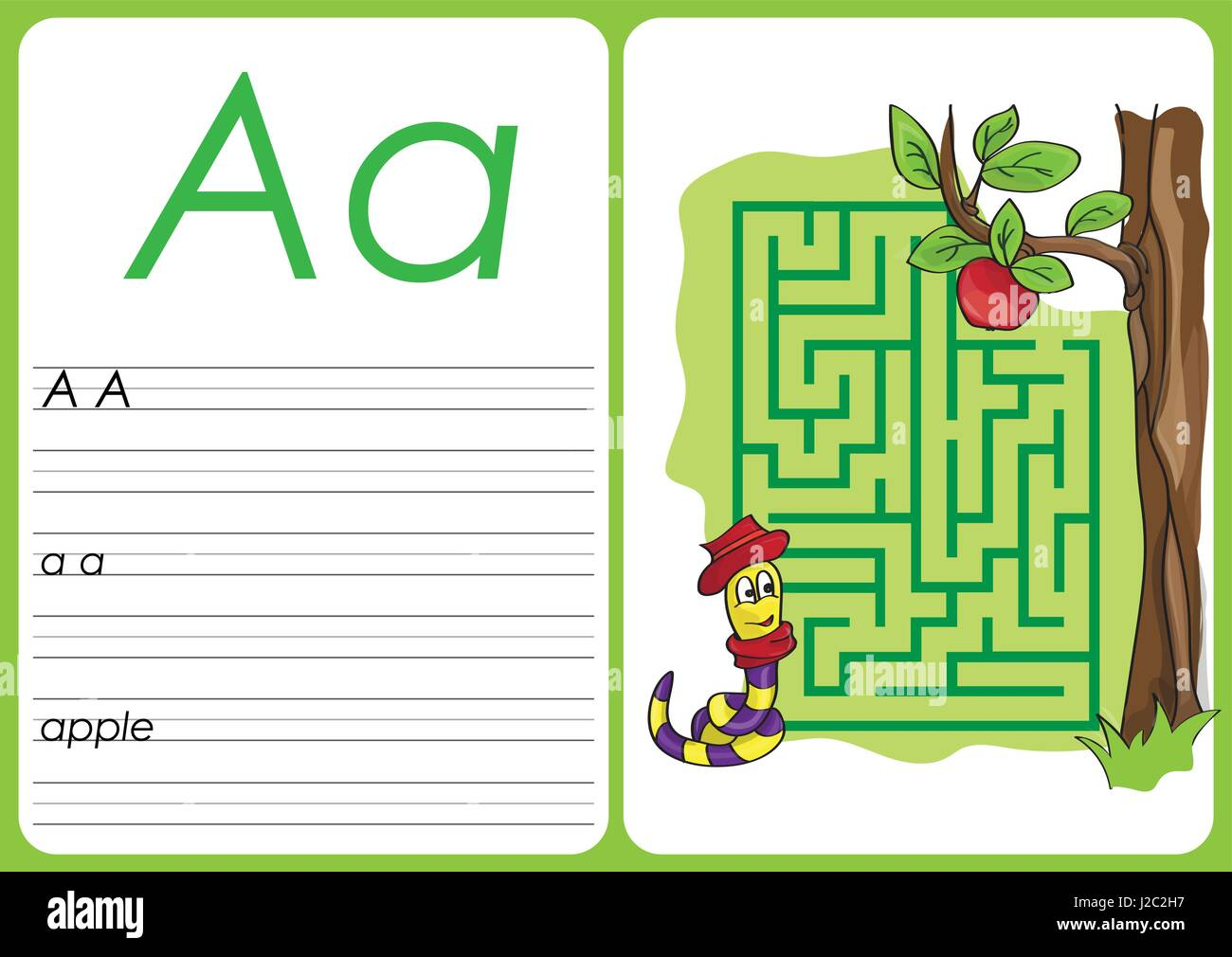 Coloring Alphabet For Kids Stock Photos & Coloring Alphabet For Kids ...