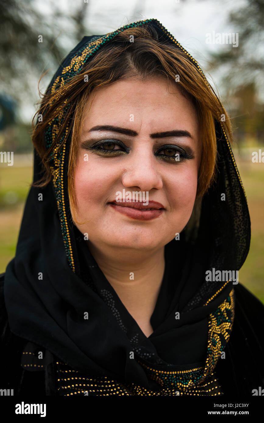 Young Kurdish Woman In The Martyr Sami Abdul Rahman Park In Erbil