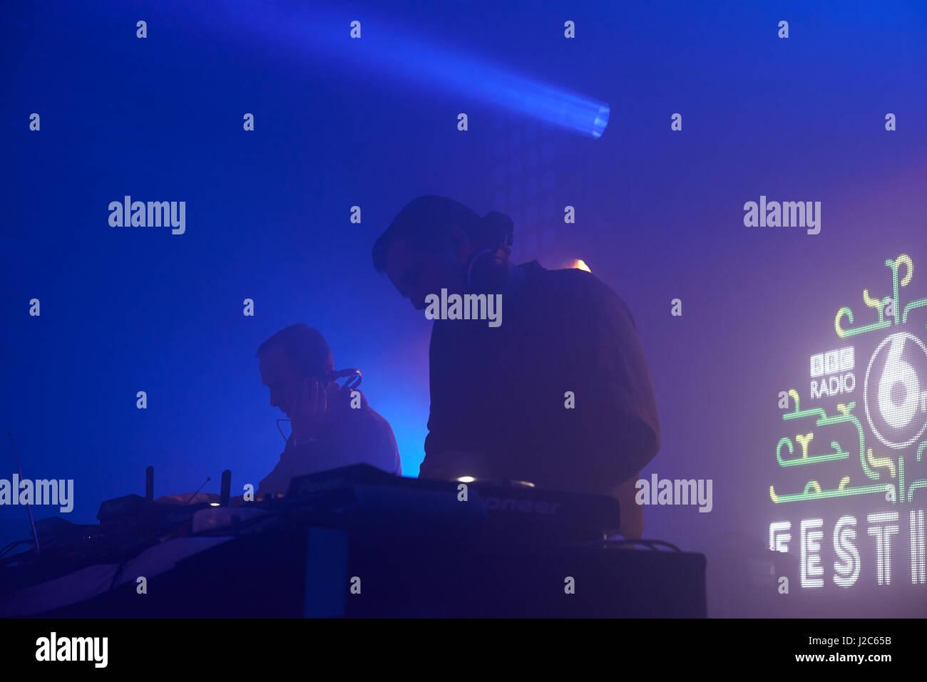 DJ Live onstage - Stock Image