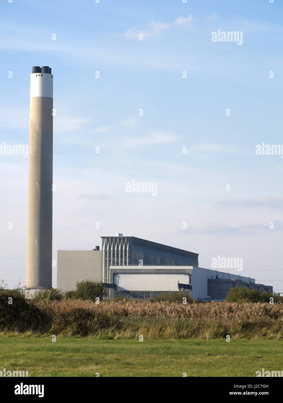 Fawley Power Station, Southampton, Hampshire, England, UK, film location for Star Wars, Red Cup Stock Photo