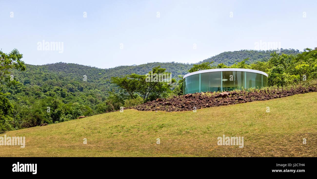 Sonic Pavilion by Doug Aitken at Inhotim Public Contemporary Art Museum - Brumadinho, Minas Gerais, Brazil - Stock Image