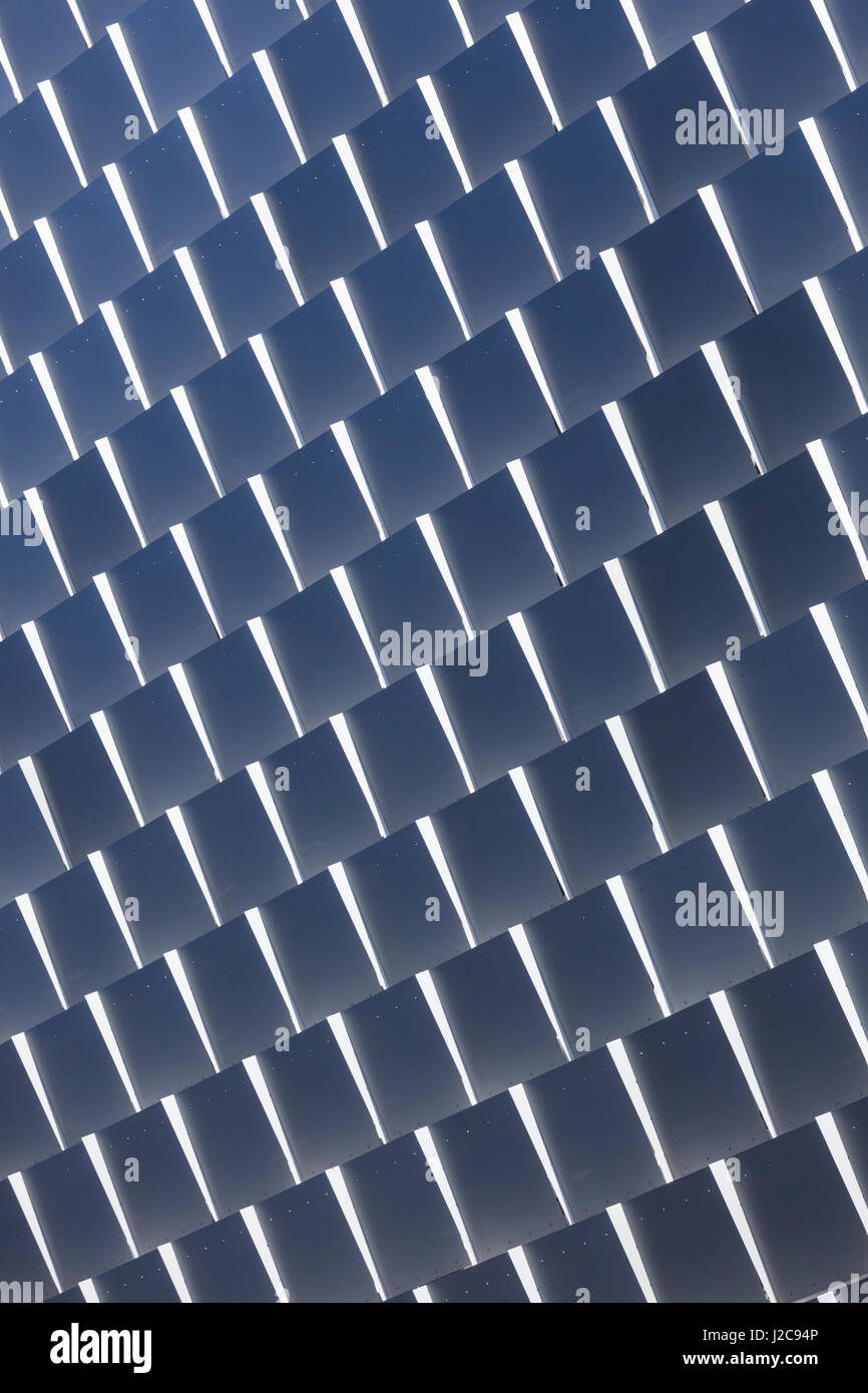 Australia, Adelaide, Rundle Street, panels of The Rundle Lantern, LED panel board, daytime - Stock Image
