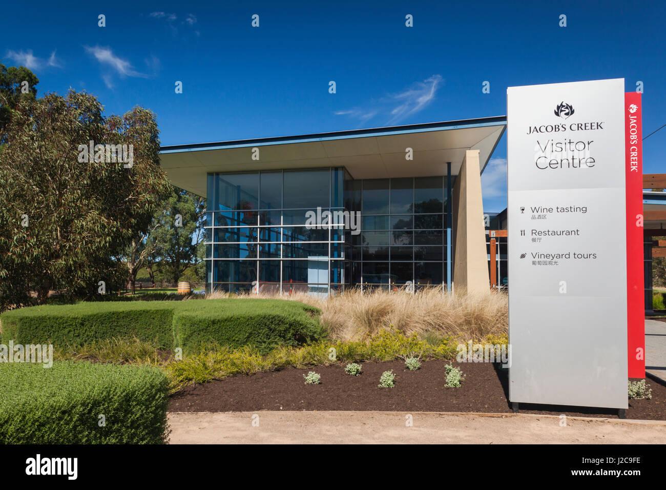 Australia Barossa Valley Rowland Flat Jacobu0027s Creek Winery visitor center exterior & Australia Barossa Valley Rowland Flat Jacobu0027s Creek Winery Stock ...