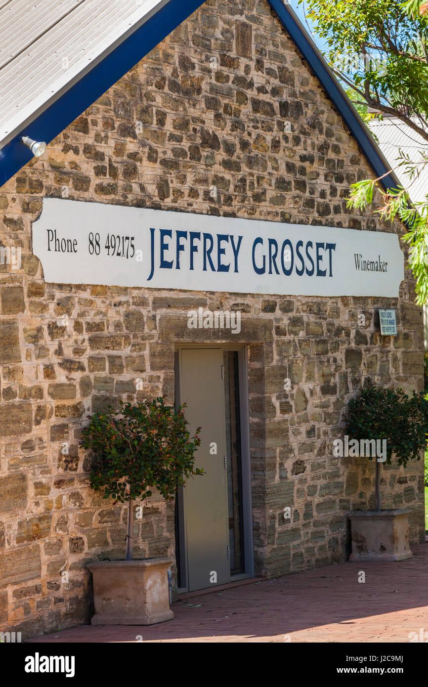 Australia, Clare Valley, Auburn, Jeffrey Grosset Winery, boutique winery cellar door - Stock Image