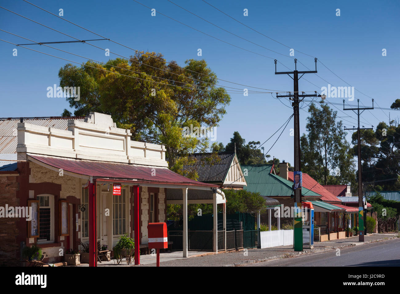 Australia, Clare Valley, Farrell Flat, town view - Stock Image