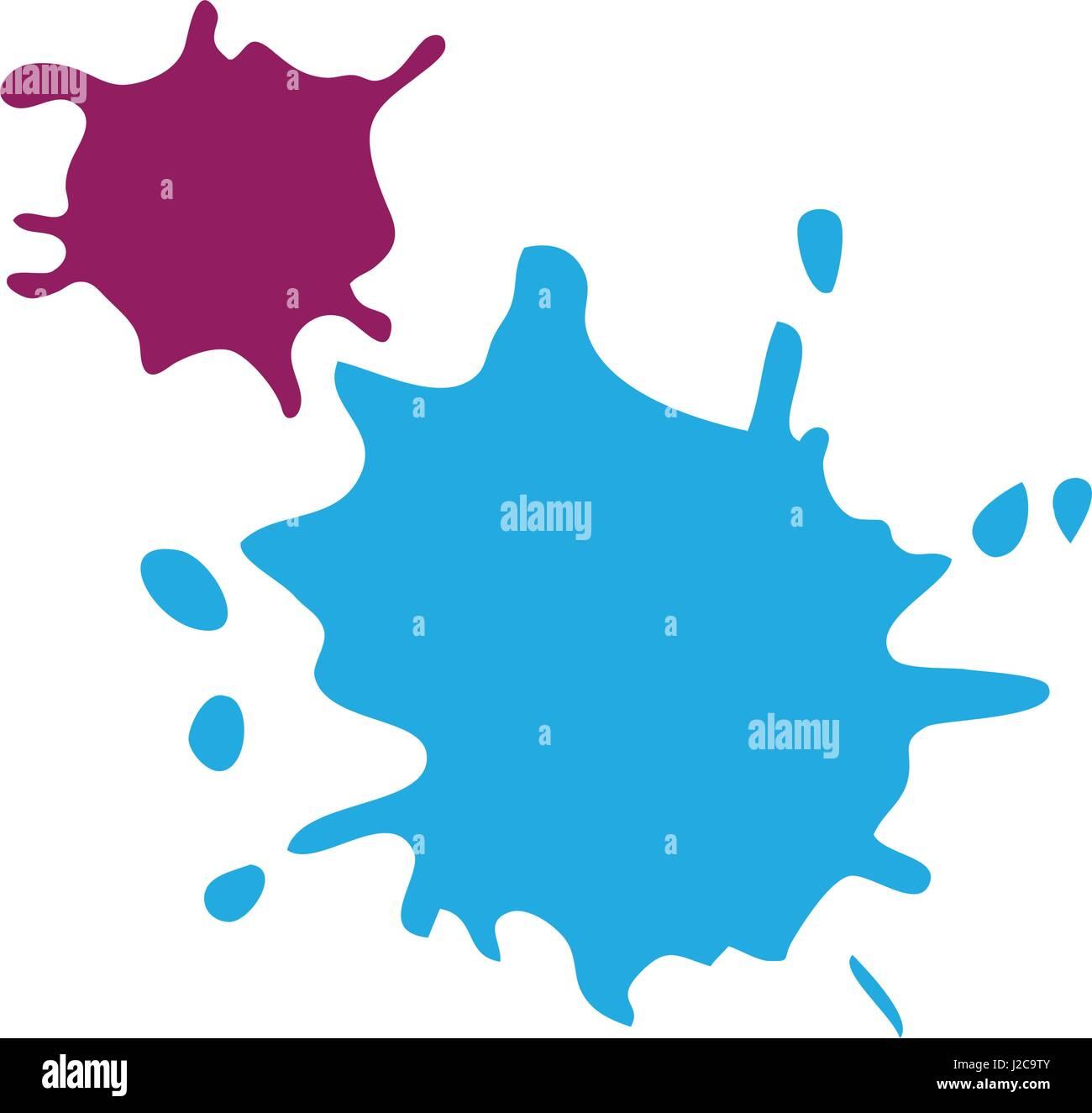 paint splash vector design Stock Vector Art & Illustration, Vector