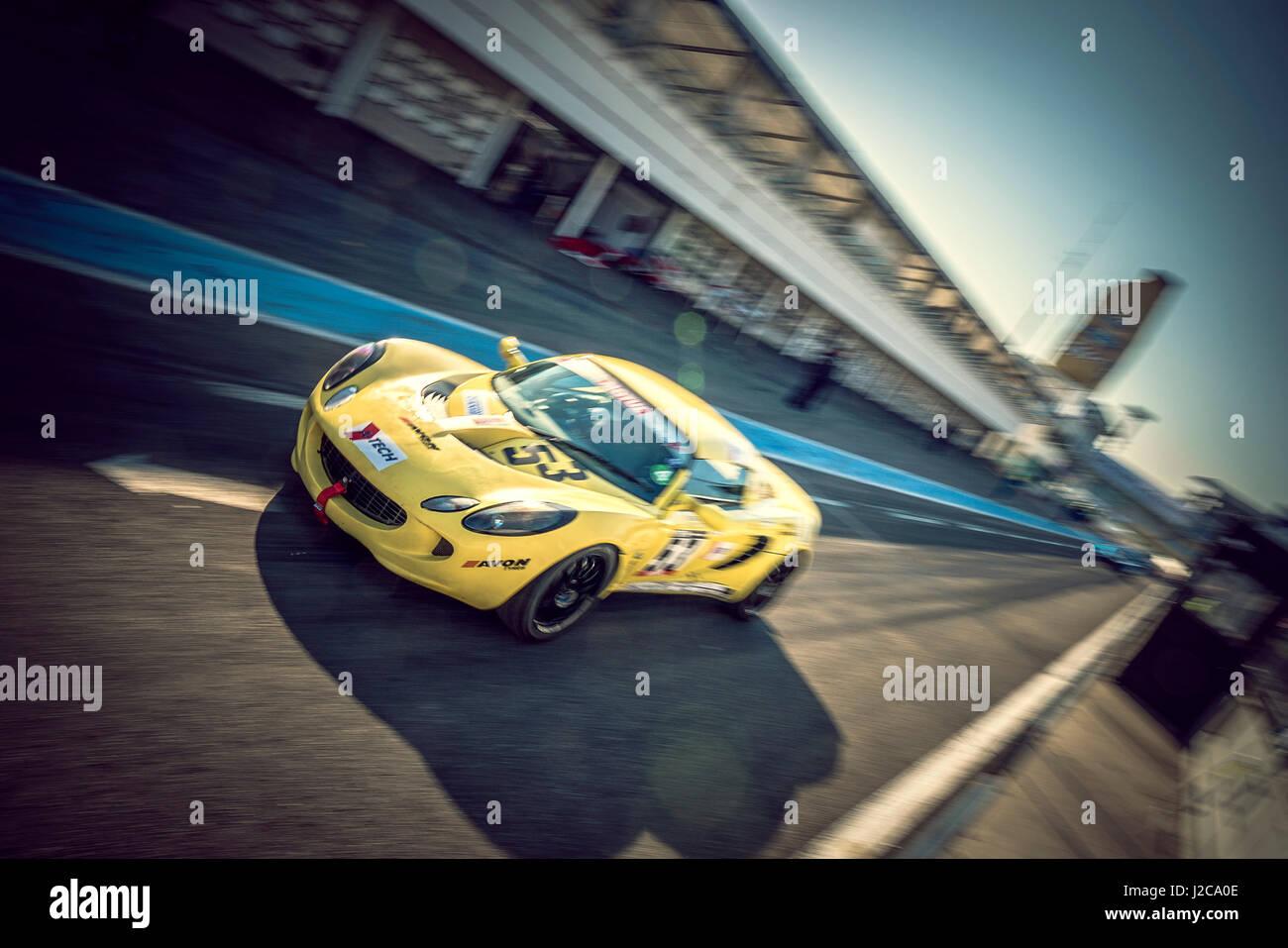 Lotus Elise Racing Car - Car Race - Stock Image