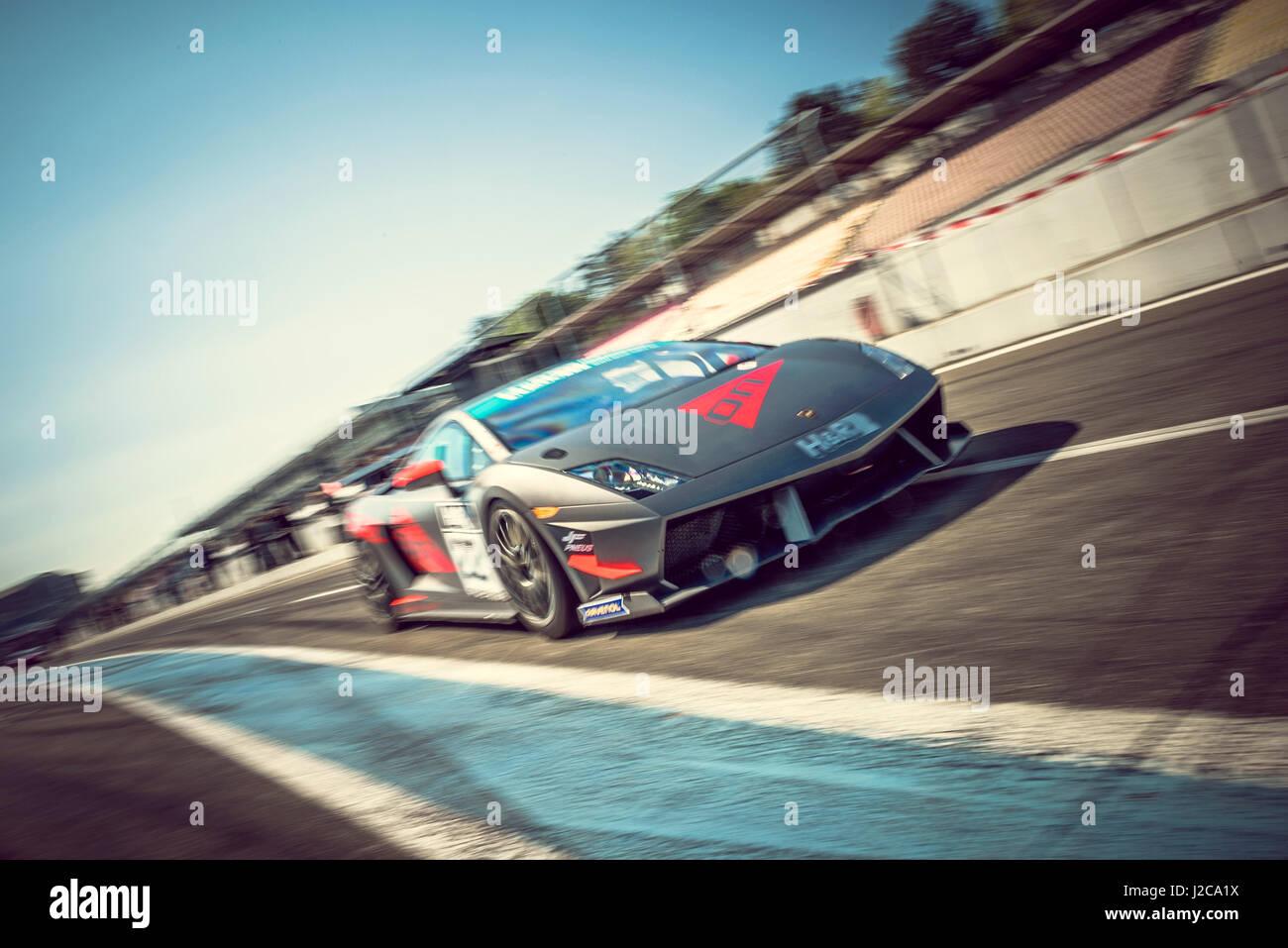 Lamborghini Huracan Race Car   Classic Car Race   Stock Image
