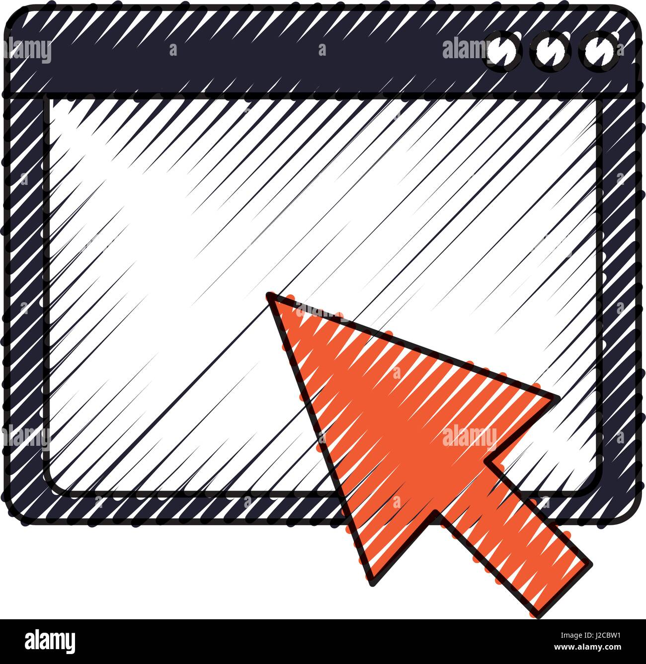Internet browser window - Stock Image