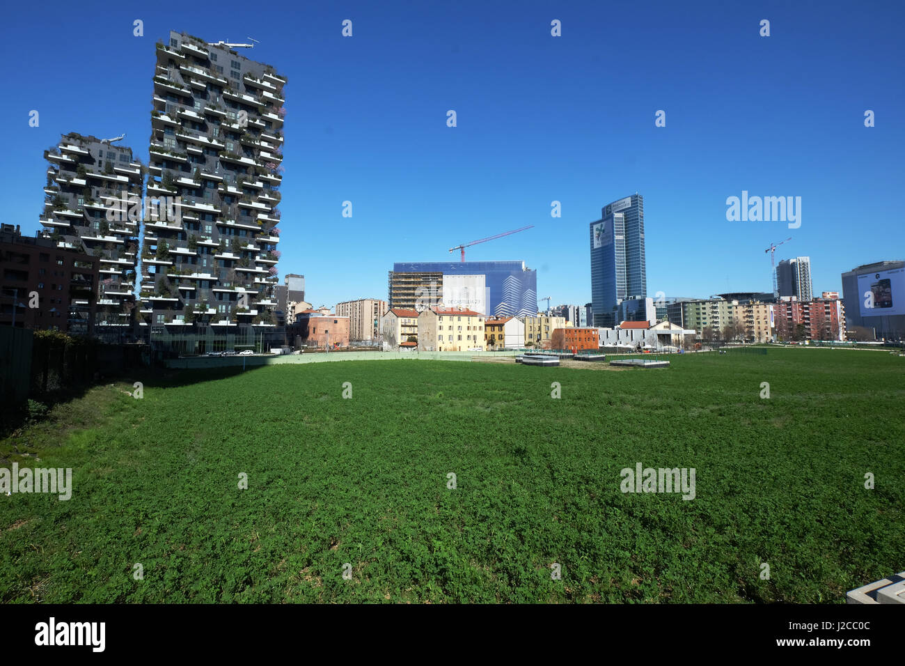 Vertical Forest Residential Towers in Milan, Italy - Stock Image